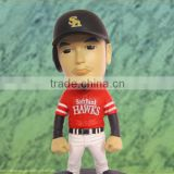 baseball player plastic figures,star image doll,custom bobble head