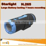 Hot sports action camera starlight night vision H.265 bullet large battery long time recording action sport camera mini dv wifi