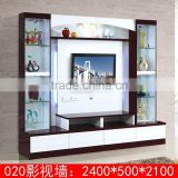 Modern living room 55 inch lcd tv wall units 020# glass tv unit
