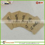 brown kraft paper tag labels for clothing