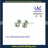 warning canceller T10 1206 4leds green led lights