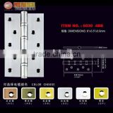 6 inches furniture ball bearing steel hinge(satin steel plated)