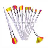 Alibaba best selling products Unicorn make up brush set with pearl bag