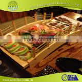 varieties well personalized wooden food tray sushi bridge print your logo