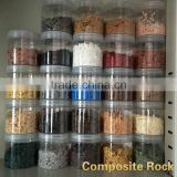 High Molecular Colorful Composite Rock Chip,Rock flakes for High build epoxy floor Paint