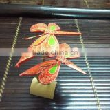 Handmade Painted Balancing Bamboo Butterfly multi color
