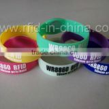 Wholesale RFID Customized Rubber Wristbands, Waterproof RFID Plastice Wristbands for Festival Events