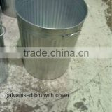 Galvanized Trash can, galvanized dust bin, trash can outdoor, metal trash can, coloured metal tash can
