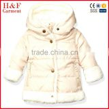 Girls bubble jackets infant toddler quilted fleece jacket warm baby winter clothing