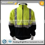 Two tone high visibility jacket safety sweatshirt with 3M reflective tape meet EN ISO20471