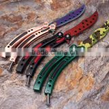 CS:GO Play Butterfly Knife Unsharped Blade Tactical Hunting Knife Dull - CS Classic Collection