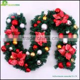 2.7M Christmas decoration long green canes rattan with balls bows christmas tree decorations christmas ornaments