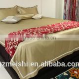 hotel use woven technics bed decoration bed runner
