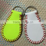 Leather Softball Key Chain Baseball Keychain