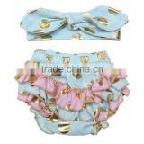 Organic cotton underwear cheap wholesale clothing baby ruffle bloomers