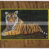 Indian Miniature Painting Paper Water Color Original Painting Wild Life Tiger Ethnic Handmade Miniatures