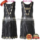 BestDance 1920s Gold Flapper Dress Great Gatsby Charleston 20s Abbey Sequins Costume