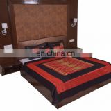 Soundarya High Quality Polysilk Rajwada Mirror work Bed Cover Set