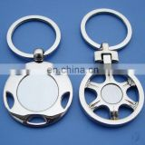 metal zinc alloy car tyre blank keychains, high quality die casting nickle free key rings