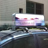 New product!!! taxi top lamp full color 1050*240*460 IP65 waterproof mobile taxi advertising signs