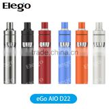 2016 All In One Style eGo AIO D22 Kit/Joyetech eGo AIO D22 with Child Lock & BF Coils