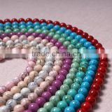 4mm 6mm 8mm 10mm 12mm Natural turquoise beads natural stone charms ornament accessories factory