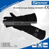 RS SAFETY Cow split leather working and protective Heat and cut resistance gloves for welding
