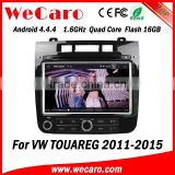 Wecaro WC-VT8009 Android 4.4.4 car dvd player touch screen for vw touareg android navigation WIFI 3G mirror link 2011-2015