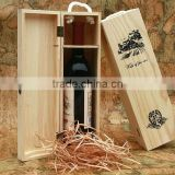 Wooden box, 500ml Wine box, 750ml wine box, olive oil box, single bottle wine box, Pine box