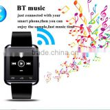milti-function bluetooth u8 smart watch with call, message, pedometer, activity tracker for android phone and iphone
