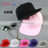 Wholesale Fashion Trend All-match Man Women Flat Brim Sport Caps Solid Plain Blank Snapback