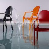 shenzhen factory price clear acrylic swivel chair
