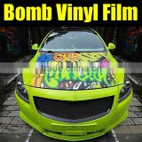 New design for bomb vinyl sticker with air channels