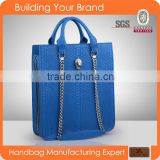 3347-wholesale China high end fashion branded genuine snake printing leather tote handbag
