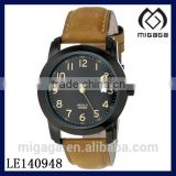 Men's Elevated Classics Watch with Leather Strap/Simple design genuine leather classics analog watch