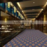 High Quality Luxury Warmth Polyester Yarn Jacqard Hotel Hall Corridor Carpet Customize Pattern Star Carpet