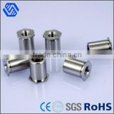 Round head aluminum weld nut hot sale fastener male and female rivet nut