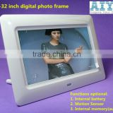 2015 Promotional 9 Years Factory 7inch battery operated digital photo frame MP3 music video picture playback for advertising