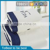 ToBest Embroidery customized logo100% cotton wholesale terry towel bath towel hotel towel