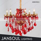 6 arms MARIA THERESA little red crystal chandelier