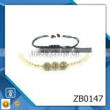 couple fashion silver bracelets 2014 popular beaded bracelets pulseiras de bronze zircon classic bracelet
