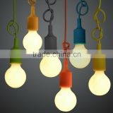 Home Decoration Luminaire E27 Base Socket Colorful Simple 1m Bulb Bases for Ceiling Lamp Pendant Light ABS + PC 10Colors