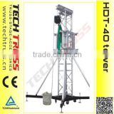 HDT-40 12m height 2000kg loading aluminium heavy duty ground support tower