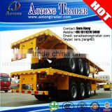 china truck trailer supplier 3 axle 20ft-40 feet flatbed semi trailer for sale portador de contenedores container transportation
