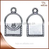 Wholesales Handbag charm pendant in antique silver 21x13mm for handcraft bracelet necklace