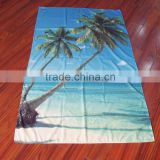Promotion microfiber wholesale l printed large weighted custom beach towel