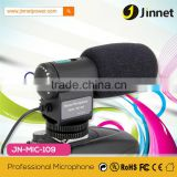 Professional external mini dslr & camcorder microphone with universal jack putput                                                                         Quality Choice