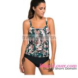 Wholesale Women Sexy Beach Swimwear 2016 Latest Dark Camouflage Print Tankini Swimsuit