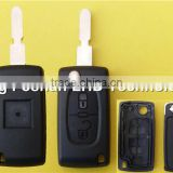 Hot sale Citroen car flip key shell(case cover blank)with 406 blade, Citroen C3/C4/C5 remote key