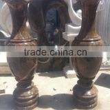 Best selling products flower pot planter black marble hand carved sculpture from Vietnam